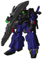 FA-010S Full Armor Enhanced ZZ Gundam (Titans) by unoservix