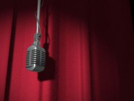 Mic and Curtain by ivanjs