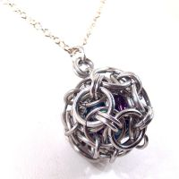 Captured Blue Star Pendant by blackbirdmaille