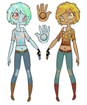 Opal and Fire Opal Adopts by 102vvv