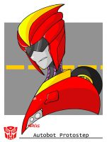 TFP/RM.EXE Crossover: Autobot Protostep by Artistdragon