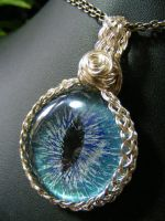 Water Eye In Woven Bezel by BacktoEarthCreations