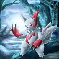 Winter Zangoose by Deruuyo