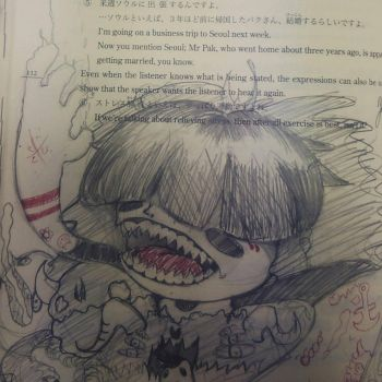 just a sketching in my japanese books by Omegatrocity