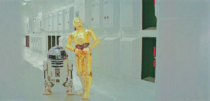 Anthony Daniels is C-3P0,  Kenny Baker is in R2 by ColonelFlagg