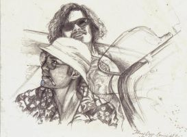 Johnny Depp - Benicio Del Toro by cpn-blowfish