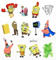 SpongeBob Sketch Dump by ZaneDrake