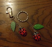 Ladybird charms by MeticulousBlue