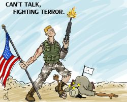 Can't Talk, Fighting Terror. by G-Townsend