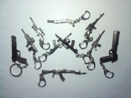 Guns Keychains Collection no.3 by XacUop10