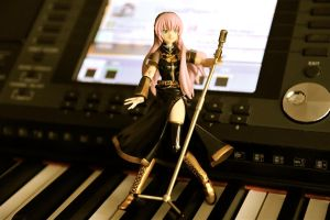 Megurine Luka On Stage by luckysevenstars