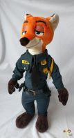 Nick P Wilde ZPD officer by KetikaCraft