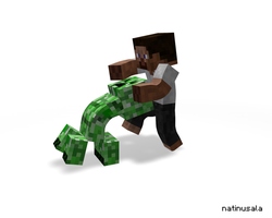 Smashing a Creeper by natinusala