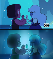 Steven universe - Sapphire and Ruby redraw! by Sat0rii