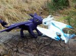 Toothless dragon sculpture by koshka741