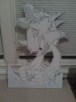 Werehog Cut Out B and W by magicwaffles123