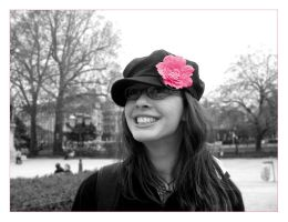 pink flower and smile by Suzie006