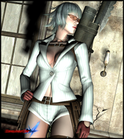 devil may cry 4-lady renderIII by AR-0