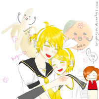 Kagamine Rin, Len - Huggies~ by HollyDays24