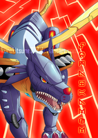 Metalgarurumon by kurokitsune777