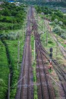 Railroad perspective by AlecsPS