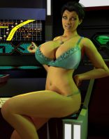Romulan Pinup Revisited by willdial