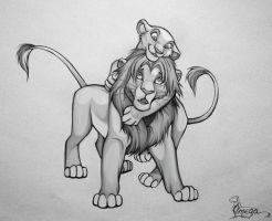 playing Simba and Kiara by OmegaLioness