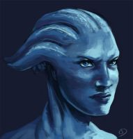 Pissed off Liara by Ma-rin