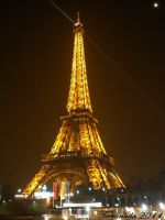 Eiffel Tower from the Seine by terrahachi