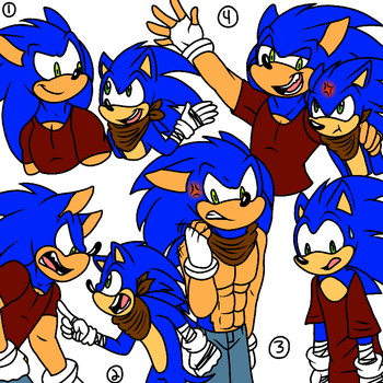 My Sonic and Boom Sonic Doodles by SplashieBro