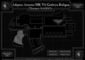 03 Warhammer 40k Bolter STC Poster Design by CabbitCastle