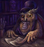 Owl Critic by Lady-DreamArt