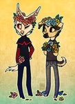 Flower Crowns by CanisAlbus
