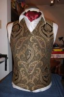 Waistcoat green-gold by Tulloran