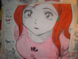 orihime inoue looking up by naruto-kira-lelouch