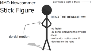 MMD Newcommer Stick Figure by FBandCC
