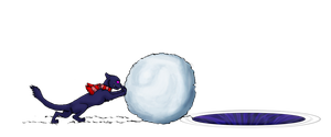The Great Snowball War- Magenta by Tephra76