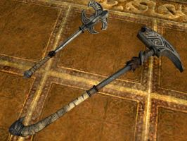 Nordic mace and hammer by isaac77598