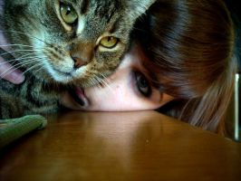 me and my cat... by mysmalldream