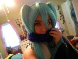 Miku cosplay 2 Kaitos scarf by Allison02Uchiha