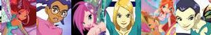 W.I.T.C.H and Winx Banner 2 by IcySeeker