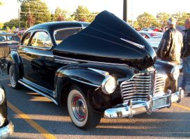 Classic black roadster by Ripplin