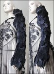 Raven wing sleeve armor shoulder piece by Pinkabsinthe