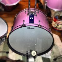 Mini TARDIS on top of my drum set by tigerclaw64