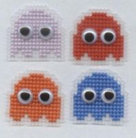 Pacman ghosts pin badges by Lil-Samuu
