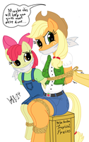 Coloured Snooping Pony Sisters by XYZExtreme13