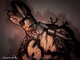 5-19-15 I Am Groot by artinthegarage