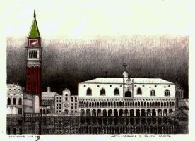 Doges Palace + Campanila by Fremenul