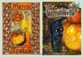 Merry Samhain and All Hallows' Eve by 1000Dreams