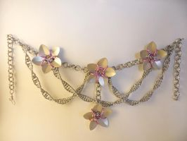 Laurel Blossom Necklace by Chainmail-Creations